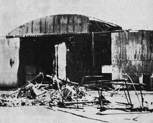 Burnt out DH-84 Dragon at Wyndham aerodrome